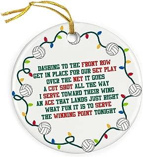 ChalkTalkSPORTS Jingle All The Way Christmas Ornament | Volleyball Porcelain Ornaments
