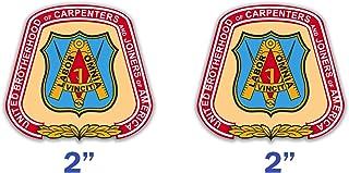 Carpenters Union Hard Hat Sticker Decals Set of 2