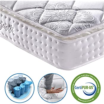Vesgantti 3FT Single Mattress, 10.6 Inch Pocket Sprung Mattress Single Bed with Breathable Foam and Individually Pocket Spring - Medium, Standard Pillow Top Collection