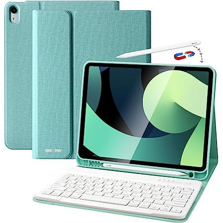 Funda Teclado iPad 10.9, Funda iPad 2020 con Ranura para Lápiz y Español (Incluye Letra Ñ) Teclado Bluetooth Inalámbrico Desmontable para iPad Air ...