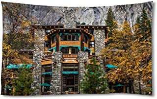 EGOTOU Ahwahnee Hotel Yosemite Rocks - Wall Tapestry Home Decor Art Wall Hanging Tapestries 50x75 inch