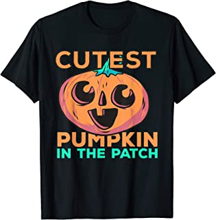Cutest Pumpkin In The Patch Funny Costume Halloween Gift T-Shirt