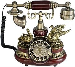 $463 » LDDZB Landline Phone for Home European Antique Telephone Rotary Dial Telephones Retro Landline Desk Telephone,Corded Phone...