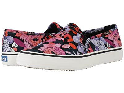 Keds Double Decker Floral (Black/Pink Twill) Women