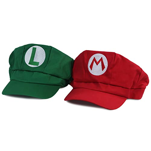 b8c41e3f8ad Landisun Costume Hat Anime Adult Unisex Cosplay Cap (Red and Green)