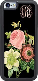 Simply Customized Phone Tough Case, Compatible with iPhone 6/6S Plus (5.5 inch) - Vintage Floral Roses Monogram Monogrammed Personalized