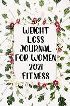 weight loss journal for women 2021 fitness: Women's food and fitness journal, motivational diet, weight loss chart, food e...