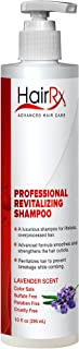 HairRx Professional Revitalizing Shampoo with Pump, Light Lather, Lavender Scent, 10 Ounce