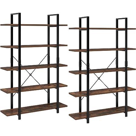 Homfa 2 Estanterías de Pie Estantería Escalera con 5 estantes ...