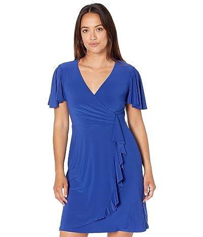 LAUREN Ralph Lauren Petite Ruffle Trim Jersey Dress