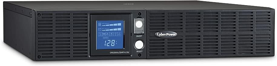 CyberPower OR2200LCDRTXL2U Smart App LCD UPS System, 2190VA/1650W, 8 Outlets, AVR, 2U Rack/Tower