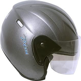 BEDAMI Matt Black Open Face with Visor Helmet (silver)-OROR_PV_1415007