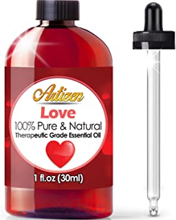 Artizen Love Blend Essential Oil (100% Pure & Natural - UNDILUTED) Therapeutic Grade - Huge 1oz Bottle - Blended W/Clary Sage, Rose Geranium, Patchouli, Sweet Orange & Ylang Ylang