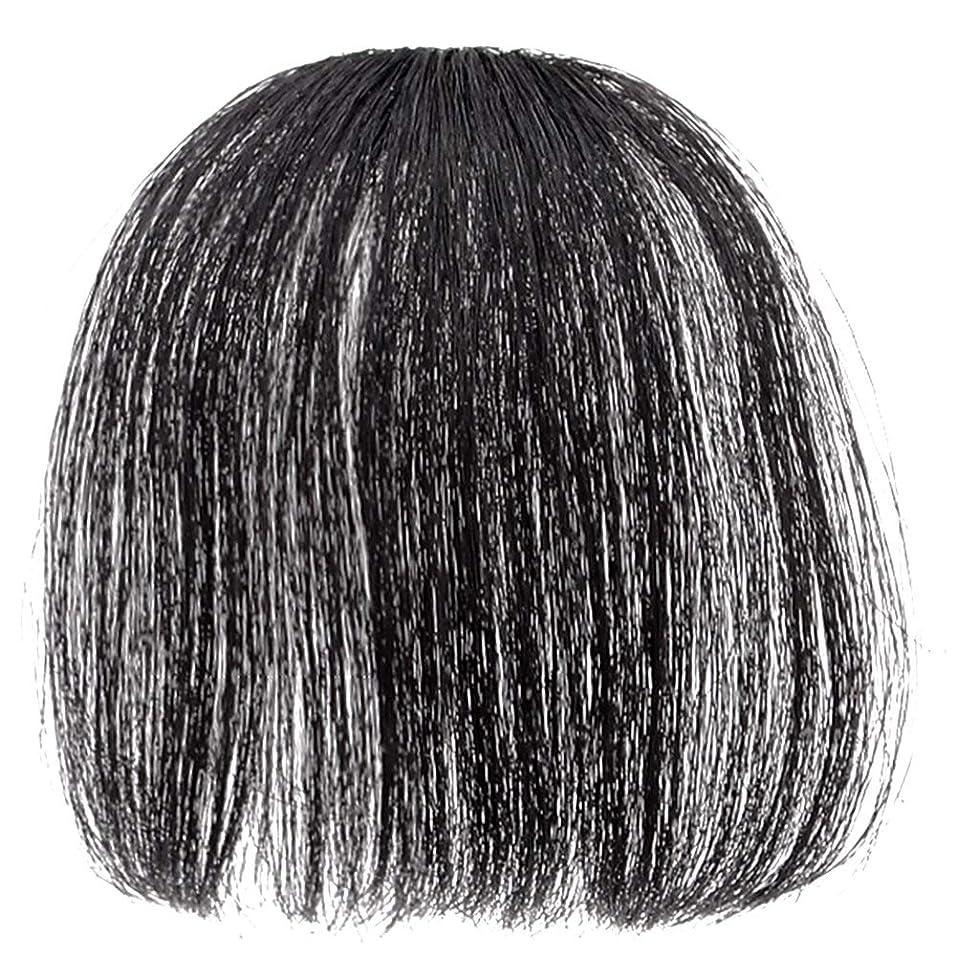 電圧改修する大聖堂Merssavo 前髪のヘアクリップ偽のヘアエクステンション偽ヘアピース