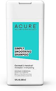Acure Simply Smoothing Coconut & Marula Shampoo, 12 Oz