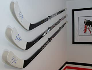 HOCKEY STICK DISPLAY HOLDER/ HANGER (2) KIT PACK GREAT FOR ANY HOME OR OFFICE WALL