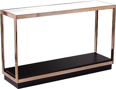 SEI Furniture Lexina Console Table, Champagne, Black