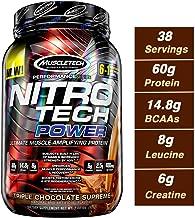 MuscleTech Nitro Tech Power Whey Protein Powder Musclebuilding Formula, Triple Chocolate Supreme, 2 Pounds