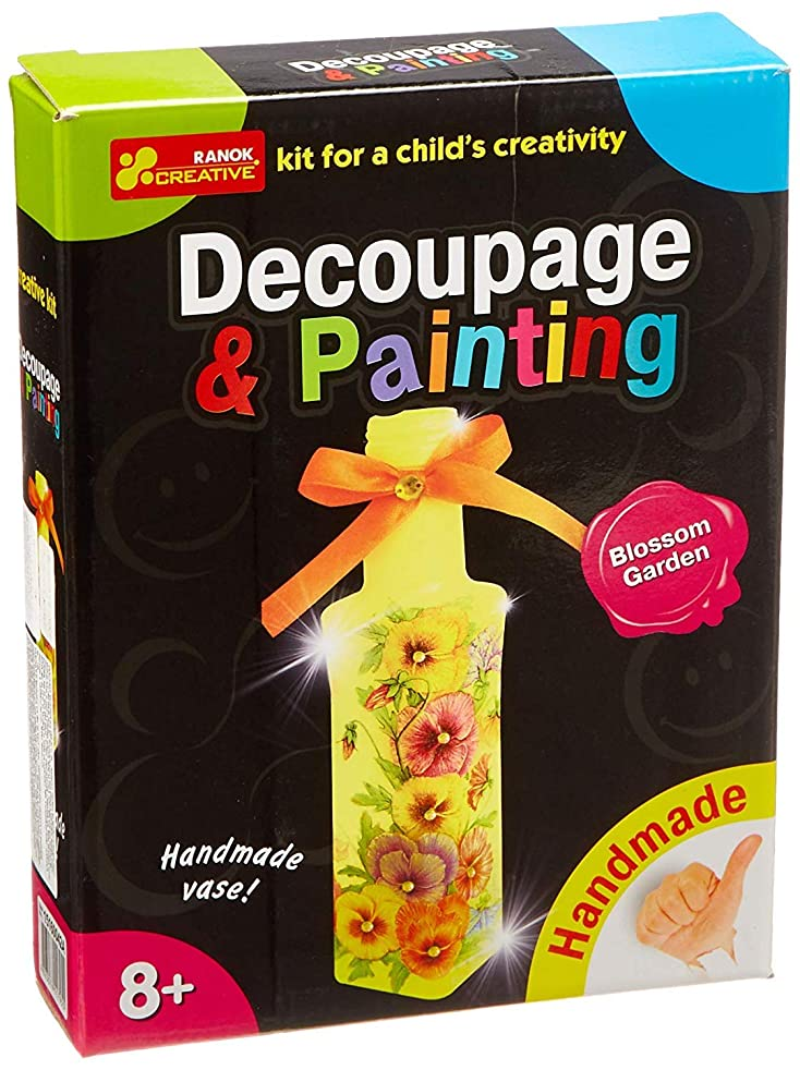 Decoupage Painting - Blossom Garden - Decoupage kit - Childrens Arts Crafts Kits