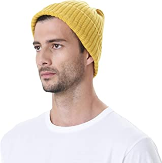 Knitted Ribbed Beanie Hat Basic Plain Solid Watch Cap AC5846