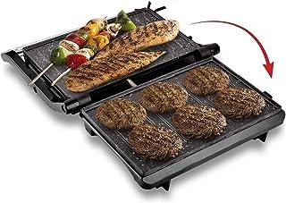 KATTICH 2 IN 1 Steel Body Electric Multi-utility Press Griller for Sandwiches, Panini, Chicken with Marble Non-Stick Big S...