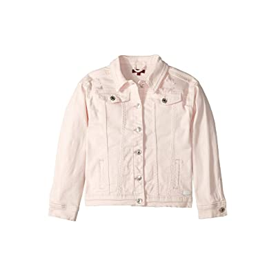 7 For All Mankind Kids Oversized Colored Denim Jacket in Destructed Pearl (Big Kids) (Destructed Pearl) Girl