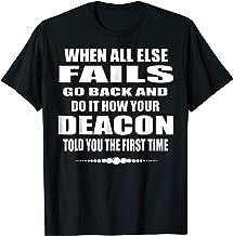 Church Deacon Funny T Shirt Gift Catholic Deacon Gift Tee