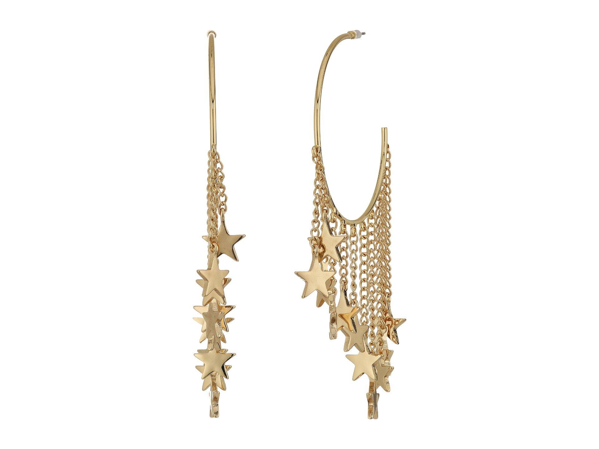 Pendientes para Mujer Steve Madden Dangling Star Charm Hoop Earrings  + Steve Madden en VeoyCompro.net