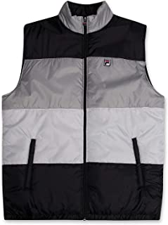 Down Alternative Vest Jacket Water-Resistant Puffer Vest for Men Big and Tall