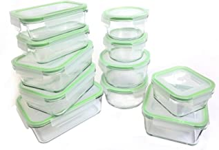 Kinetic Glass Meal Prep Containers, 22 Piece Glass Storage Containers with Airtight Lids, Freezer Containers, Food Prep Glass Containers with Lids, FDA Approved BPA Free & Leak Proof