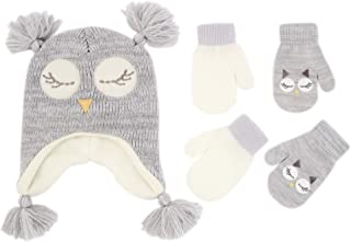 Assorted Critter Designs Hat and 2 Pair Gloves or Mittens...
