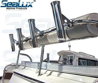 SeaLux Marine Boat Rail Mount Clamp-On Fishing Rocket Launcher Rod Holder 7/8