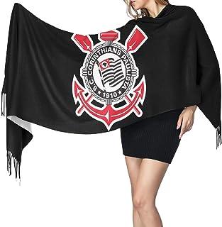 Yuanmeiju Bufanda larga de moda para mujer Corinthians Paulista Fleece muffler Warm scarf for Mens Womens