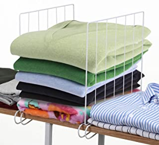 MaidMAX 8 Pack Wire Shelf Dividers for Closet Organizers and Storage, Closet Shelf Separators for 1-Inch Thick Shelves, 11x11 Inches