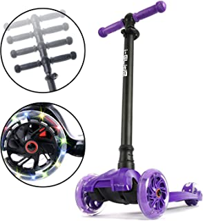 i-Glide Toddler Scooter - 3 Wheel Scooter for Kids - Kids Scooter with Warranty - Scooter for Girls & Boys - Adjustable Handlebar - Wide Deck - Lean 2 Steer - Flashing LED Wheels - Children 2 Years+