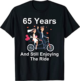 80272390 65th Wedding Anniversary Gift Shirt Tandem Bike Husband Wife