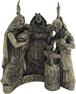 Dryad Design Celtic Goddess Brigid Brigit Statue Stone Finish