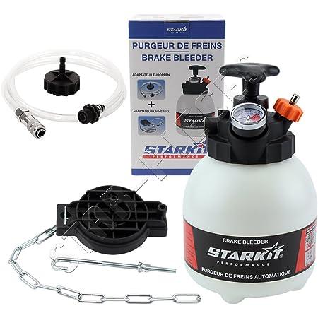 STARKIT PERFORMANCE Purgeur de Frein et d'Embrayage 3 litres avec adaptateurs multimarques pour Purge Circuit freinage