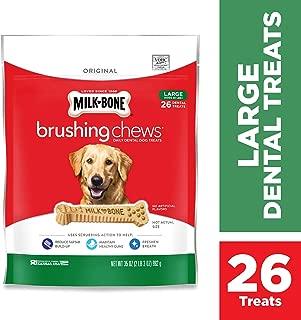 Milk-Bone Original Brushing Chews Daily Dental Dog Treats, Reduce Tartar Build-up, Maintain Healthy Gums