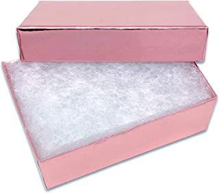 """TheDisplayGuys 100-Pack #32 Cotton Filled Cardboard Paper Jewelry Box Gift Case - Metallic Rose Gold (3 1/4"""" x 2 1/4"""" x 1"""")"""