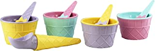 Q-Lux Carnaval Ice Cream Set – Sweet Treats Ice Cream Playset – Cups and spoons - Accessories for Kids 3 and Up. Set of 9 ...