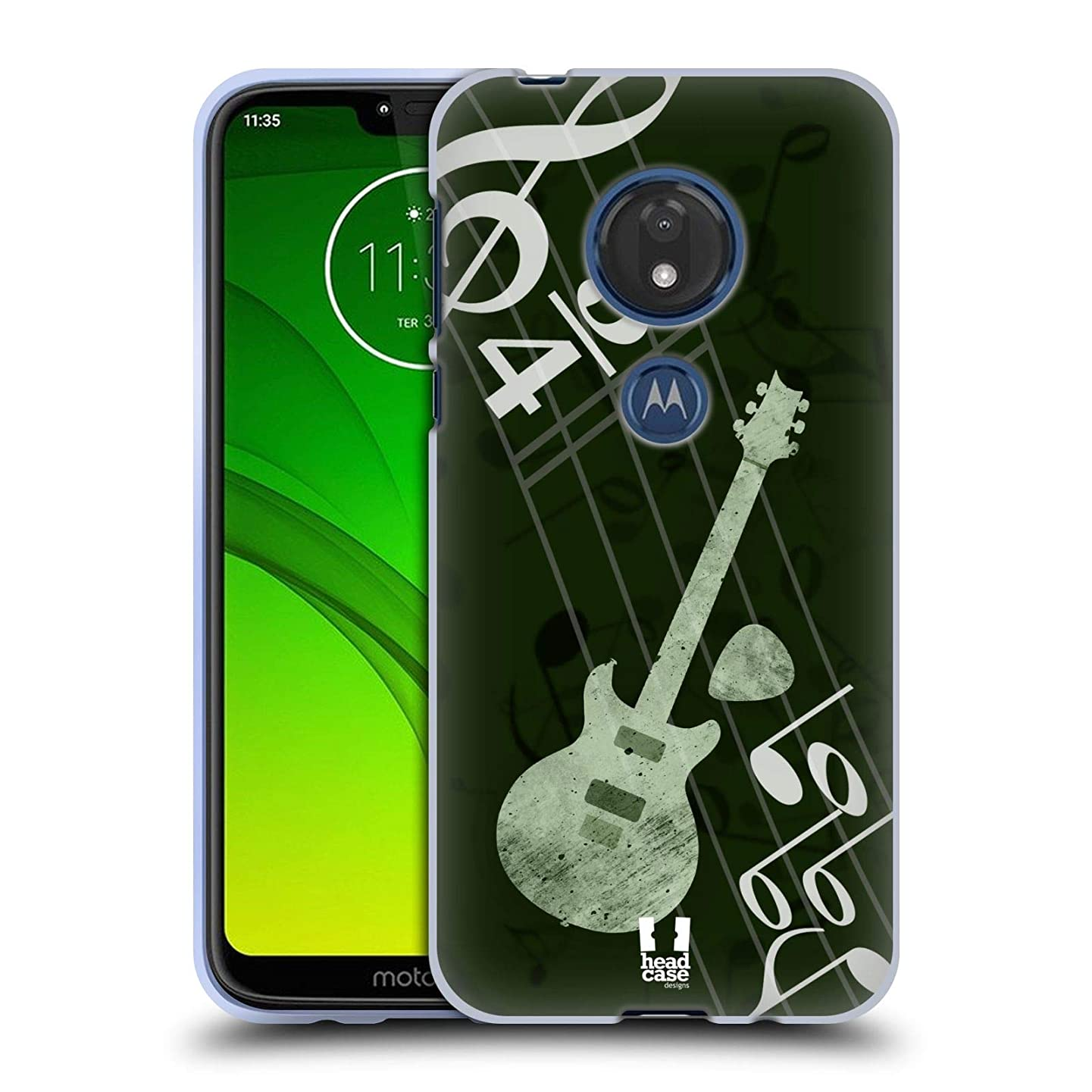 Head Case Designs Guitar Musika Soft Gel Case Compatible for Motorola Moto G7 Play