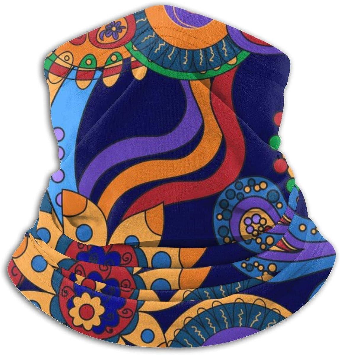 SLHFPX Neck Gaiter Face Mask Oriental Watercolor Pattern Half Balaclava Ski Masks for Women Men Adult