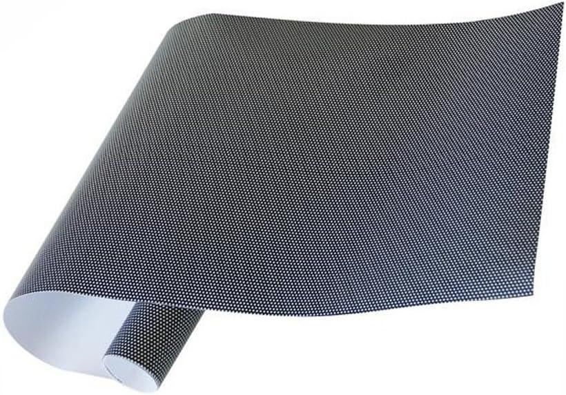 Einseitige Perforiert Schwarz Vinyl Sichtschutz Fensterfolie Sichtschutzfolie Dekorative Glas Wrap Rolle Vinyl Schwarz 1 22m 0 5m 4ft 20 Küche Haushalt