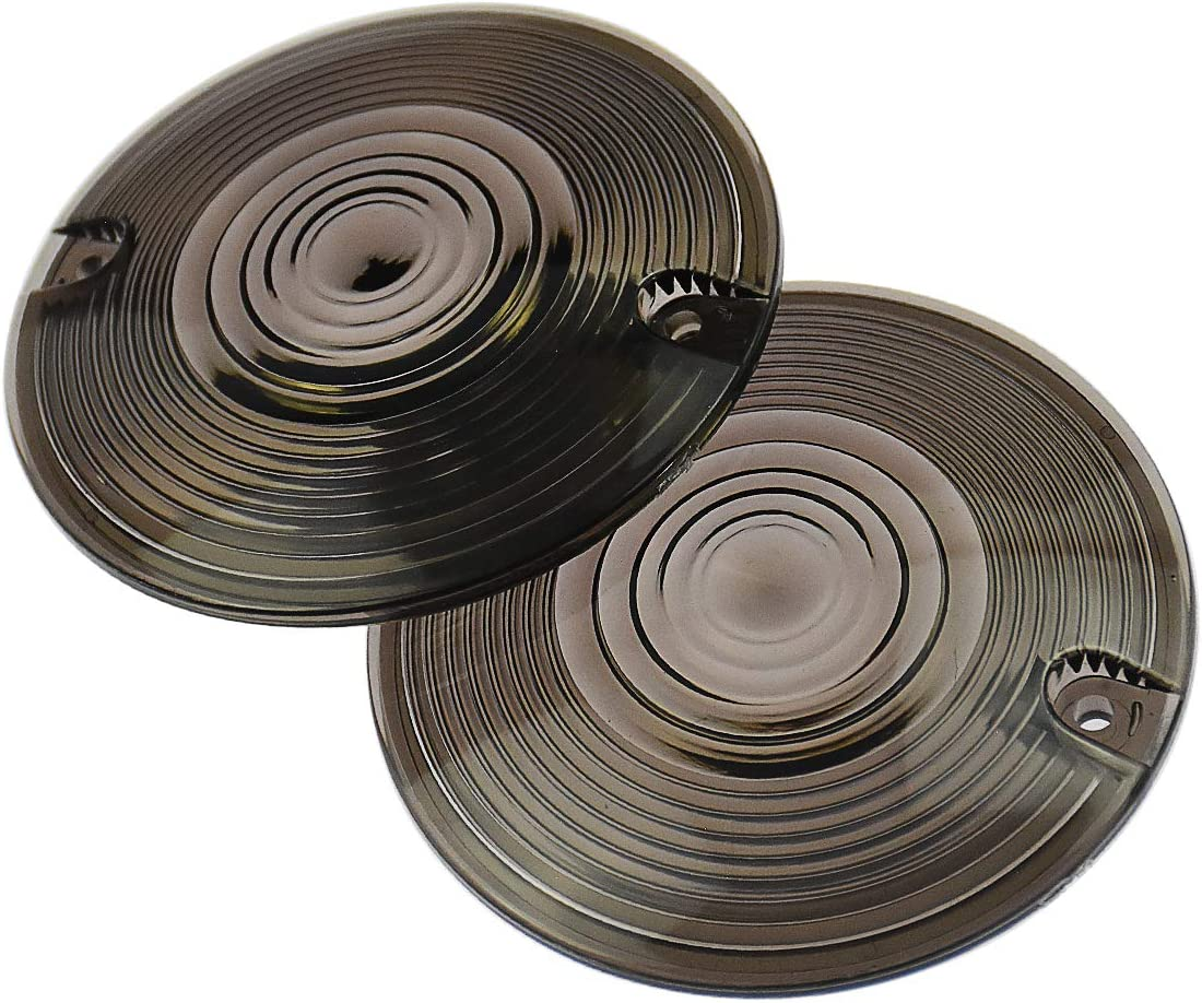 Rebacker Motorcycle Smoked Turn Signal Lens Covers shipfree 3 1 Lenses 4