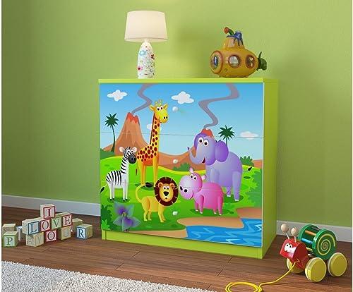 almacén al por mayor CARELLIA CARELLIA CARELLIA Cómoda Infantil Safari 3cajones Color verde Lima  diseño simple y generoso