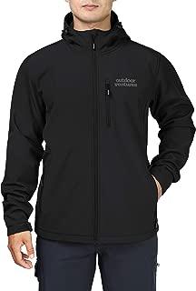Outdoor Ventures Men's Softshell Jacket with Hood Fleece Lined Tactical Coat Waterproof for Hiking
