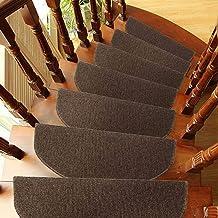 Non Slip Carpet Stair Treads Rug mats,15Pcs/Set Carpet Stair Treads Mats Pads Non-slip Adhesive Area Rug Adhesive Carpet S...
