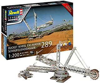 Revell RV05685 Specialutgåva grävmaskin 289 i skala 1:200, 101,1 cm originaltrogen modellbyggsats för experter, startset m...