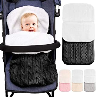 ALLYAOFA Warm Stroller Wrap Blankets, Newborn Baby Sleeping Bag Thick Knit Velvet Fleece Baby Wrap, Warm Stroller Wrap Sui...